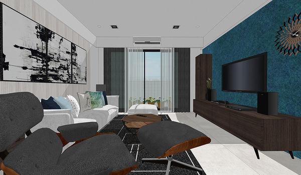 登陽中山苑 客廳空間電視牆收納系統電視櫃設計.jpg
