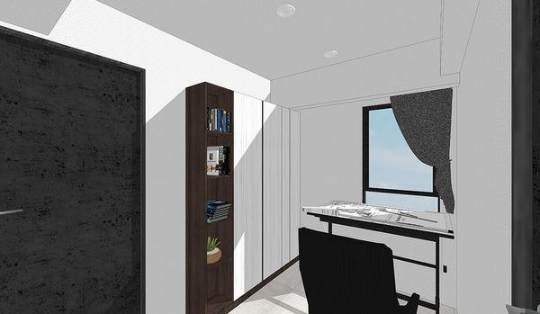 登陽中山苑 書房空間系統書櫃設計.jpg