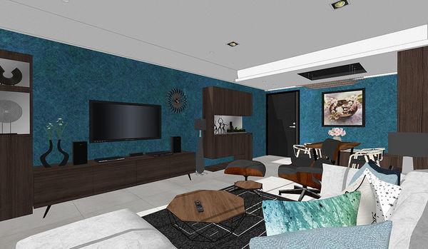 登陽中山苑 客廳空間系統電視櫃設計.jpg