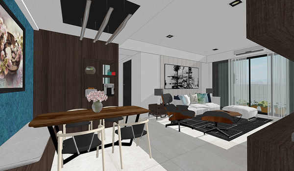 登陽中山苑 餐廳空間展示系統櫃設計.jpg