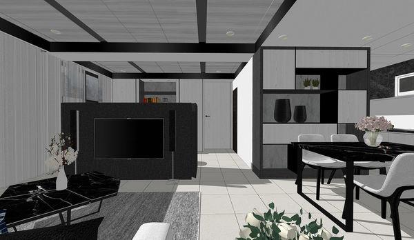 大漁建設森自在 餐廳空間系統收納櫃設計.jpg