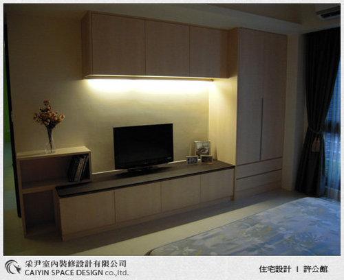 台中室內設計-系統廚櫃-臥室電視櫃設計.jpg