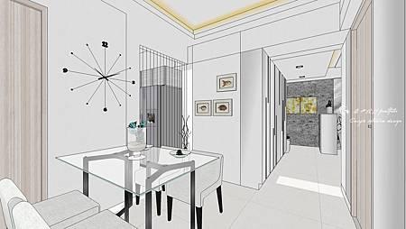 餐廳sketchup設計,材質運用與材質大小調整