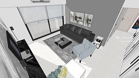 客廳空間設計 sketchup設計