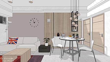 台中老屋翻修室內設計 | 電視牆設計 |客廳設計|餐廳設計| 現代簡約風格設計