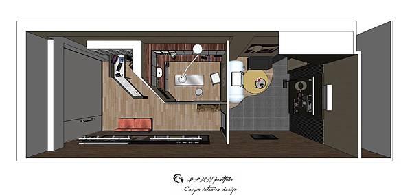 中部sketchup教學  商業空間設計  寵物醫院規畫