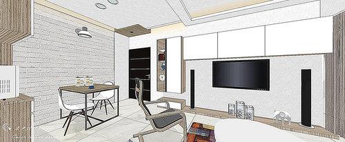 台中室內設計 居家裝潢 空間設計 電視牆設計 壁面造型 (1).jpg