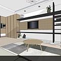 情定水蓮|居家裝潢|客廳設計|餐廳櫥櫃設計|書櫃設計