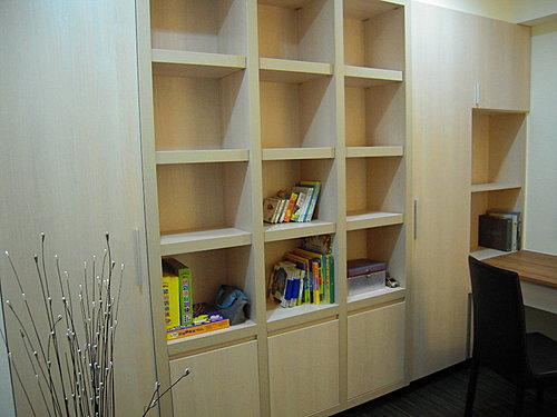 書櫃設計 開放式書櫃設計 系統櫃估價.bmp