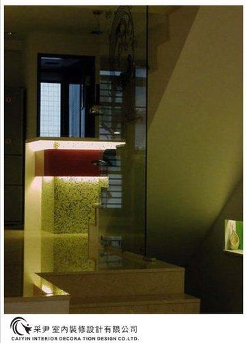 吧檯設計 客廳裝潢 玻璃隔間設計 電視牆旋轉設計 系統家具  (1).bmp