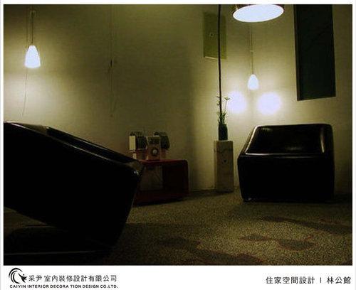 吧檯設計 客廳裝潢 玻璃隔間設計 電視牆旋轉設計 系統家具  (2).jpg