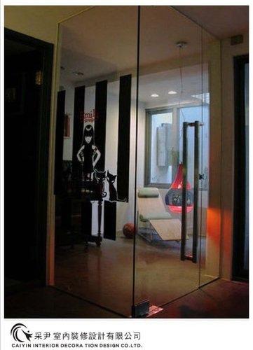 吧檯設計 客廳裝潢 玻璃隔間設計 電視牆旋轉設計 系統家具  (3).jpg