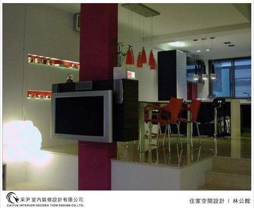 吧檯設計 客廳裝潢 玻璃隔間設計 電視牆旋轉設計 系統家具  (7).jpg
