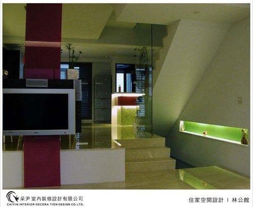 吧檯設計 客廳裝潢 玻璃隔間設計 電視牆旋轉設計 系統家具  (10).jpg
