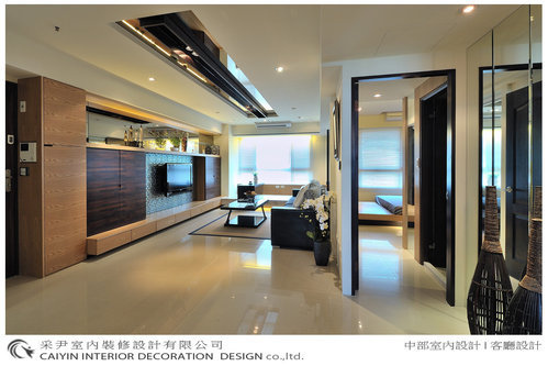 台中室內設計 天花板裝潢 客廳設計 居家裝潢 實品屋設計 系統櫥櫃 (4).bmp
