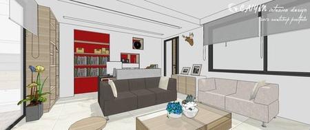 客廳設計 系統櫃 住宅設計 裝潢 (5)