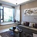 現代時尚風格/臥榻櫃估價/客廳裝潢估價