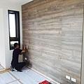 主臥室床頭造型施工