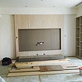 客廳區電視牆施作