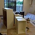 系統櫃材料分類組裝過程
