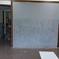 工程收尾階段 (7) 端景牆面底漆施工