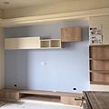 惠宇新觀 (3)客廳電視牆油漆跳色/ICI水泥漆