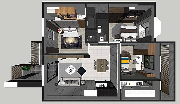 台中烏日老屋翻新 室內空間俯視圖.jpg