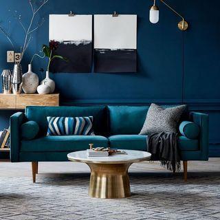 設計參考-藍色壁面搭配藍色沙發%2F金色茶几