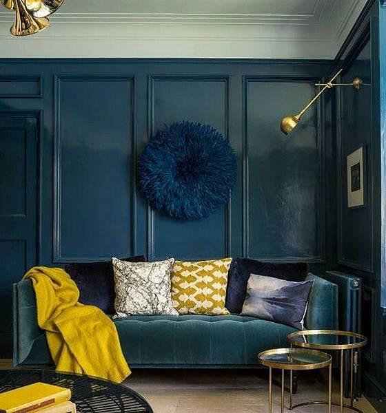 設計參考-藍色壁面搭配藍色沙發