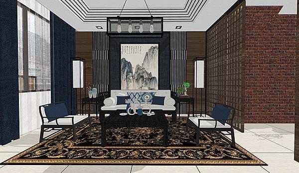 茂美洋建設 馥邦天下 客廳空間沙發背牆設計.jpg