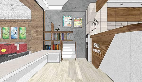 台中診所室內設計 等候區與櫃台空間設計.jpg