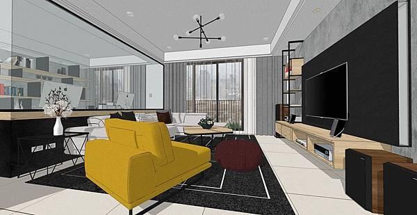 國泰建設 國泰頤湖苑 客廳空間電視牆設計.jpg