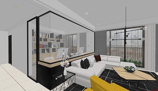 國泰建設 國泰頤湖苑 開放式鋁框玻璃書房設計.jpg