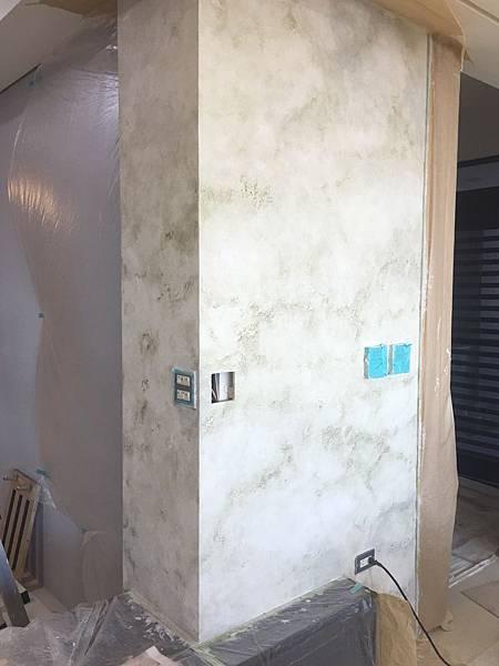 客廳空間電視牆漆藝繪製2.jpg