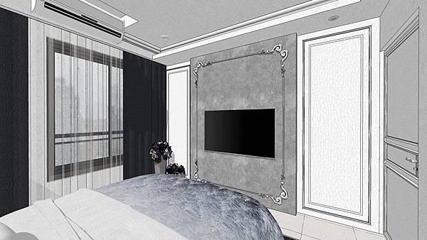 惠宇禮仁 主臥室空間電視牆設計.jpg