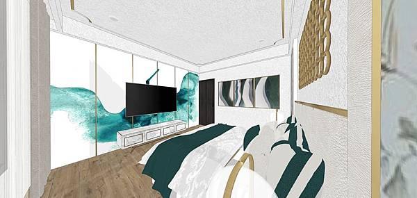 太和安縵住宅設計 主臥室電視牆設計.jpg