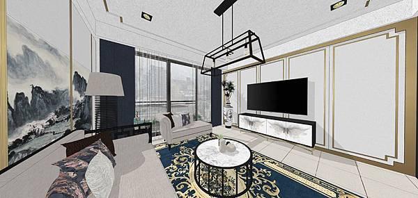 太和安縵住宅設計 客廳空間電視牆設計.jpg