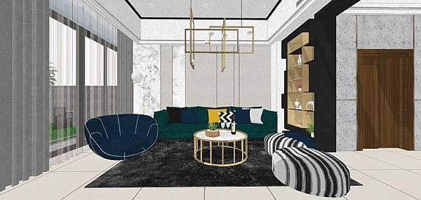 樹禾院住宅設計 一樓客廳空間沙發背牆設計.jpg