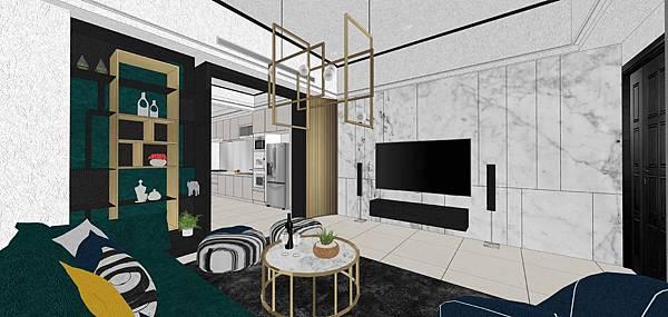 樹禾院住宅設計 一樓客廳空間電視牆設計.jpg
