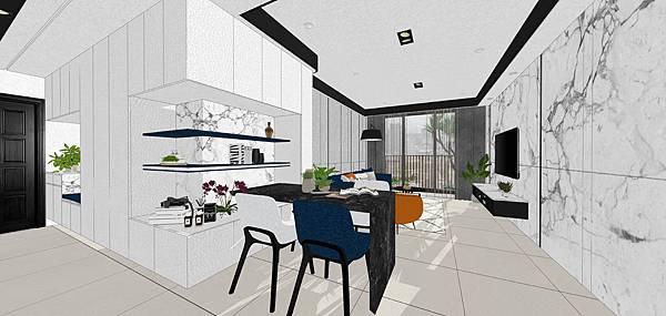 台南 三發匯世界 大橋地王住宅室內設計 客廳空間設計.jpg