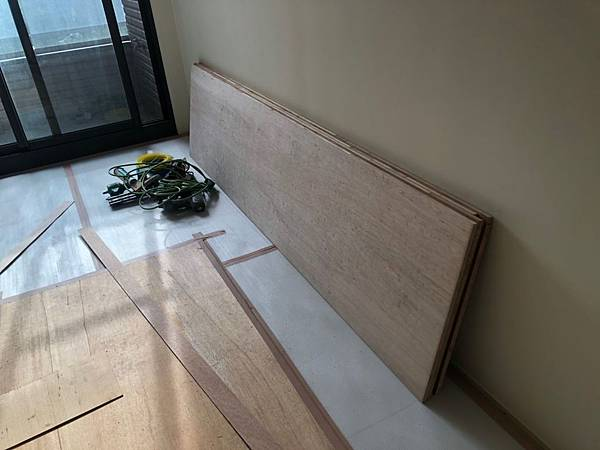 惠宇新觀住宅設計 木作材料木芯板進場.jpg