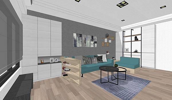 台中住宅設計 玄關客廳