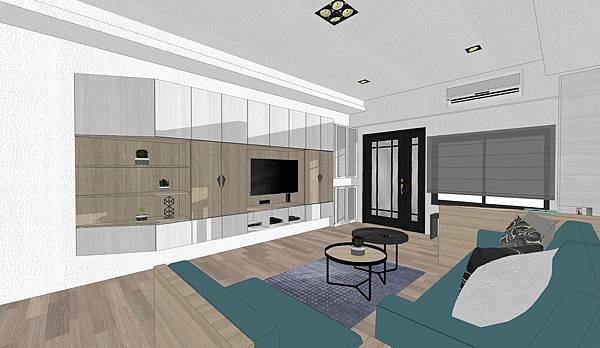 台中住宅設計 電視牆櫃