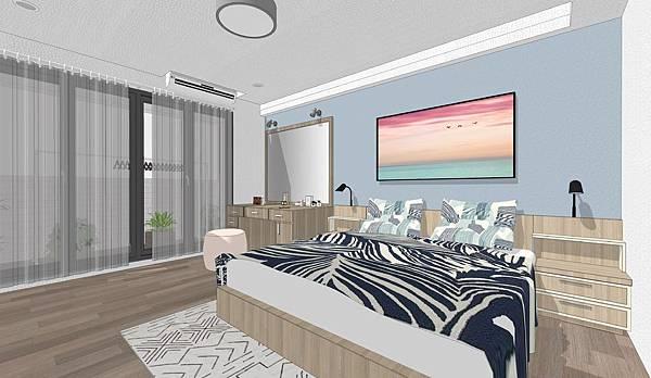 台中住宅設計 主臥室1