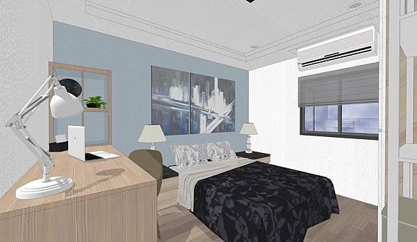 台中住宅設計 次臥室1