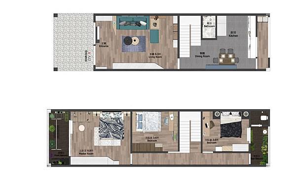 台中住宅設計 平面