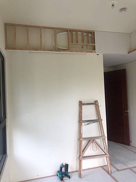 惠宇新觀室內設計 主臥室空間天花板壁掛冷氣結構加強.jpg