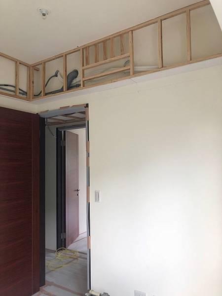 惠宇新觀室內設計 男孩房空間天花板壁掛冷氣結構加強紀錄.jpg