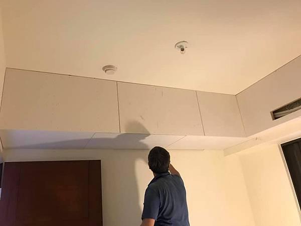 惠宇新觀室內設計 次臥室空間天花板包樑處矽酸鈣封板施工.jpg