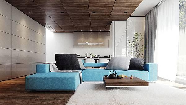 Aqua-sofa-藍色空間%2F藍色客廳配色參考